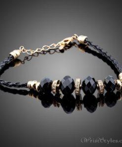 Black Strand Charm Bracelet AZ417817CH