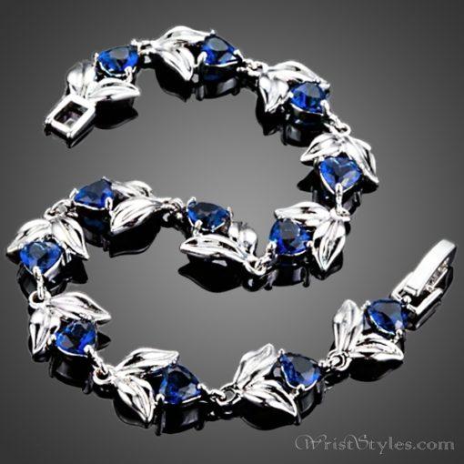 Blooming Hearts Charm Bracelet AZ443841CH 1