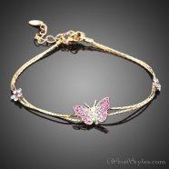 Butterfly and Flower Charm Bracelet AZ357933CH