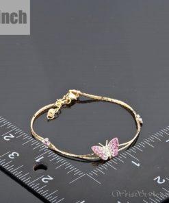 Butterfly and Flower Charm Bracelet AZ357933CH 2
