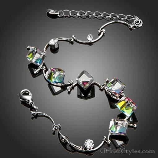 Colored Cube Charm Bracelet AZ007122CH 1