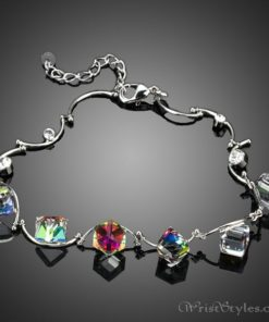 Colored Cube Charm Bracelet AZ007122CH