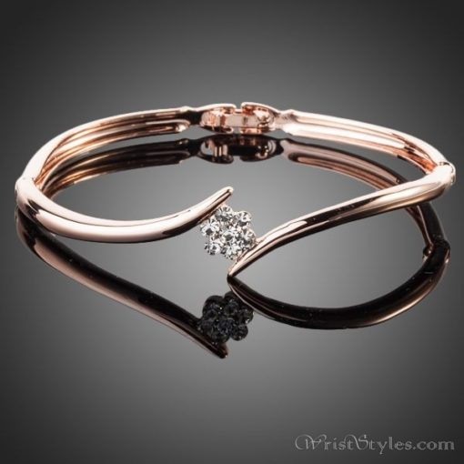 Crystal Rose Elegant Bangle AZ833064BA