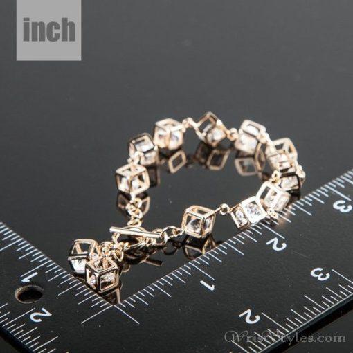 Cubed Crystal Charm Bracelet AZ613446CH 2