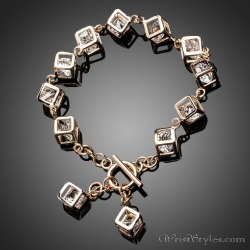 Cubed Crystal Charm Bracelet AZ613446CH