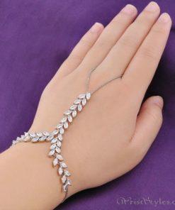 Leaf Chain Palm Cuff NA602689PA 1