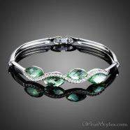 Light Green Water Drop Bangle AZ095136BA