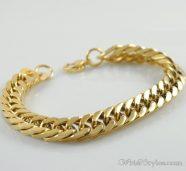 Mens Curb Chain Bracelet NO323454BR 002