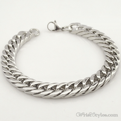 Mens Curb Chain Bracelet NO323454BR 006