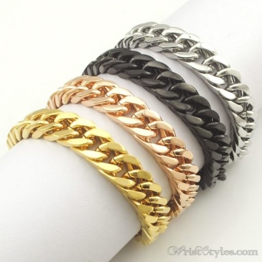 Mens Curb Chain Bracelet NO323454BR 009