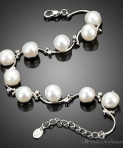 Pearl And Crystal Bracelet AZ417622BR 1