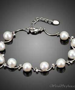Pearl And Crystal Bracelet AZ417622BR