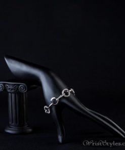 Platinum Plated Round Link Bracelet AZ318277BR 3