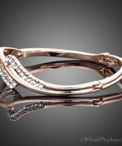 Rose Gold Crystal Bangle AZ895460BA 1