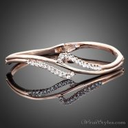 Rose Gold Crystal Bangle AZ895460BA