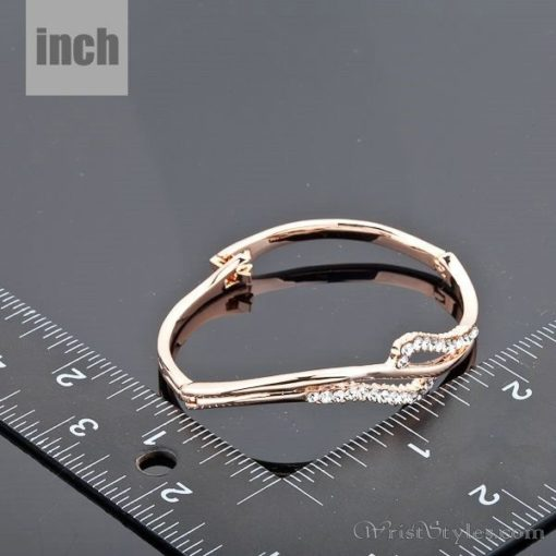 Rose Gold Crystal Bangle AZ895460BA 2