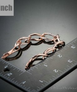 Rose Gold Plated Leaf Shaped Bracelet AZ214565BR 2