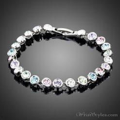 Round Linked Multicolored Bracelet AZ785478BR