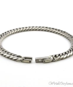Stainless Steel Link Chain Bracelet NO303861BR