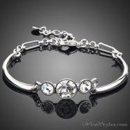 Triple Head Platinum Bracelet AZ224691BR