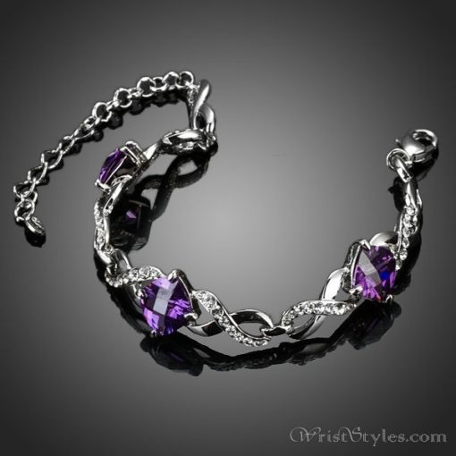 Triple Purple Stone Bracelet AZ533893BR 1