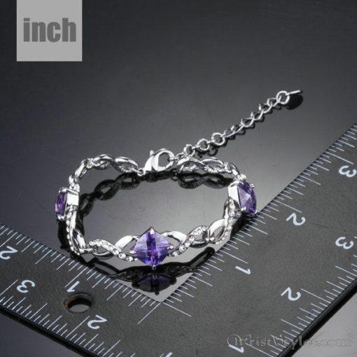 Triple Purple Stone Bracelet AZ533893BR 2