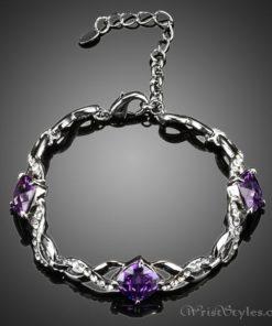 Triple Purple Stone Bracelet AZ533893BR