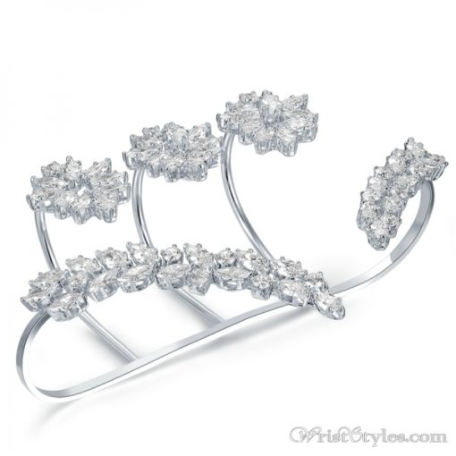 White Gold Plated Palm Cuff NA353910PA 1