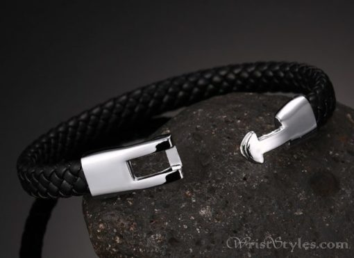 Braided Leather Bracelet VN243518BR 2
