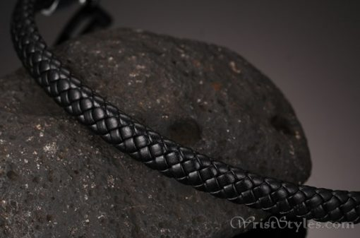 Braided Leather Bracelet VN243518BR 5