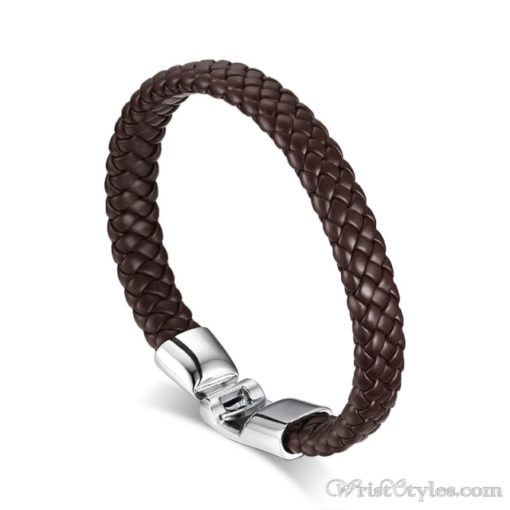 Braided Leather Bracelet VN243518BR