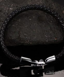 Braided Leather Bracelet VN243518BR 6