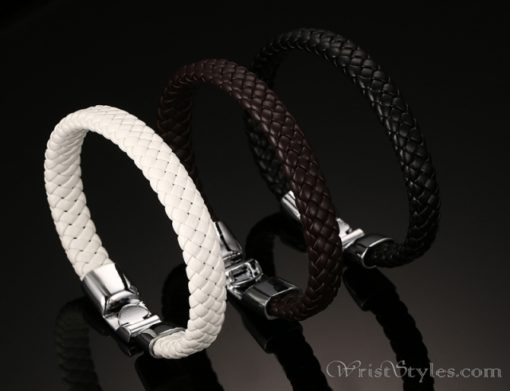 Braided Leather Bracelet VN243518BR 8
