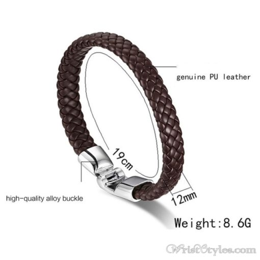 Braided Leather Bracelet VN243518BR 9