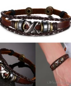 Genuine Leather Charm Bracelet VN036054CH 1