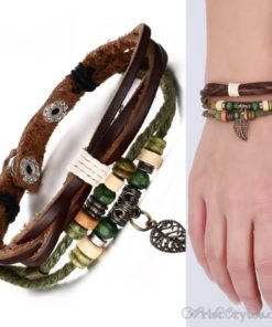 Genuine Leather Charm Bracelet VN036054CH 10