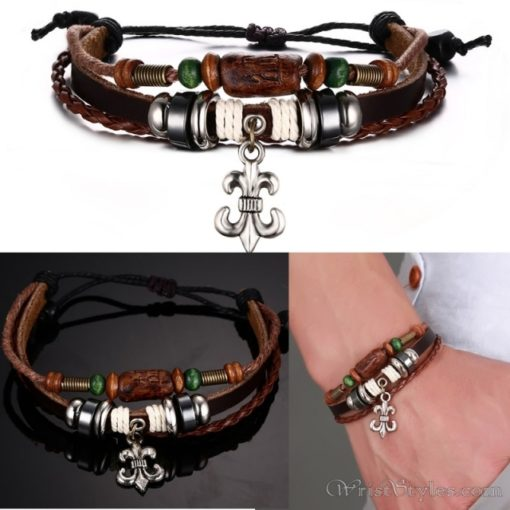 Genuine Leather Charm Bracelet VN036054CH 12