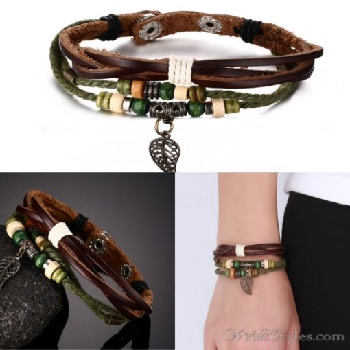 Genuine Leather Charm Bracelet VN036054CH 13