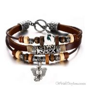 Genuine Leather Charm Bracelet VN036054CH