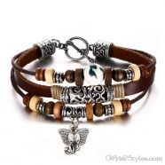 Genuine Leather Charm Bracelet VN036054CH