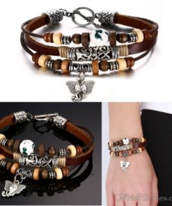 Genuine Leather Charm Bracelet VN036054CH 2