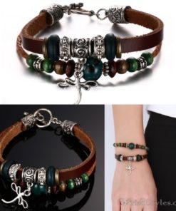 Genuine Leather Charm Bracelet VN036054CH 4