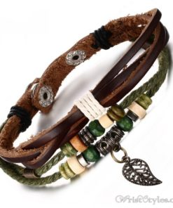Genuine Leather Charm Bracelet VN036054CH 5