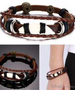 Genuine Leather Charm Bracelet VN036054CH 7
