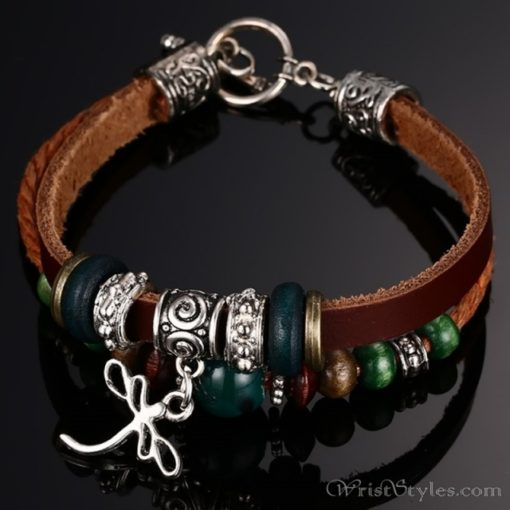 Genuine Leather Charm Bracelet VN036054CH 8