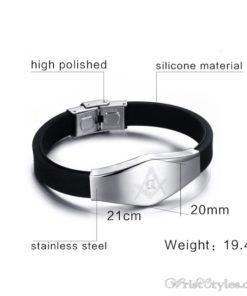Masonic Silicone Bracelet VN615701SI 2