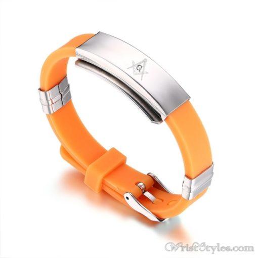 Masonic Silicone Bracelet VN615701SI 3