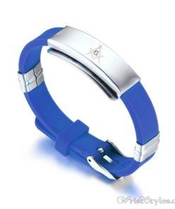 Masonic Silicone Bracelet VN615701SI 4