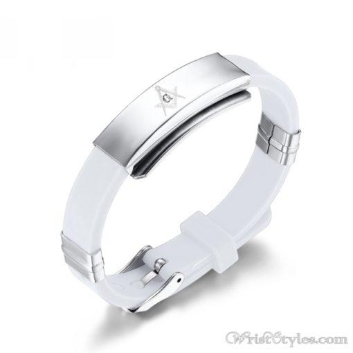 Masonic Silicone Bracelet VN615701SI 5