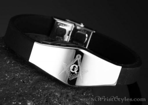 Masonic Silicone Bracelet VN615701SI